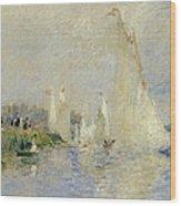 Regatta At Argenteuil Wood Print by Pierre Auguste Renoir