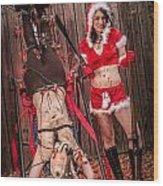 Reindeer Slay Wood Print by Steven Walker