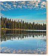 Relaxing On The Lake Wood Print by Robert Bales