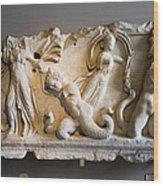 Relief Depicting Gigantomachy Wood Print by Artur Bogacki