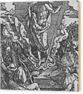 Resurrection Wood Print by Albrecht Duerer