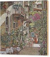 Rethimnon-crete-greece Wood Print by Guido Borelli