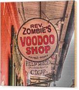Rev. Zombie's Wood Print by David Bearden