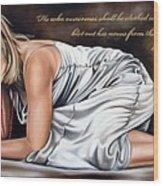 Revelations Three Verse Five Wood Print by Ilse Kleyn