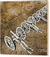 Revolutionary War Cannons Wood Print by Olivier Le Queinec