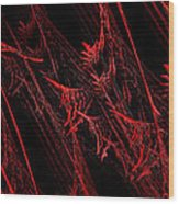 Rhapsody In Red H - Panorama - Abstract - Fractal Art Wood Print by Andee Design