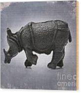 Rhinoceros Wood Print by Bernard Jaubert