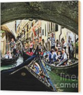 Rhythm Of Venice Wood Print by Jennie Breeze