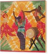 Rhythms Wood Print by Aisha Lumumba