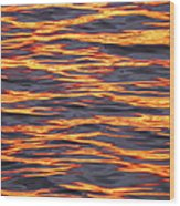 Ripple Affect Wood Print by Karen Wiles