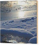 River Ice Wood Print by Hanne Lore Koehler