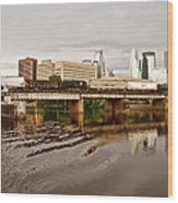River Structures13 Wood Print by Susan Crossman Buscho
