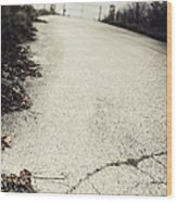 Road Less Traveled Wood Print by Margie Hurwich