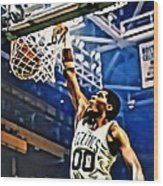 Robert Parish  Wood Print by Florian Rodarte