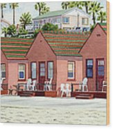 Robert's Cottages Oceanside Wood Print by Mary Helmreich