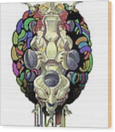 Robot God - Trinity 2.0 Wood Print by Augustinas Raginskis