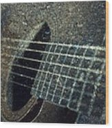 Rock Guitar Wood Print by Photographic Arts And Design Studio