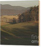 Rockingham County Virginia Meadow Wood Print by Anna Lisa Yoder