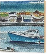 Rockport Harbor Wood Print by Scott Nelson