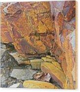 Rocks1 Wood Print by Katina Cote