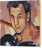 Rocky Marciano Wood Print by Robert Phelps