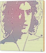 Roger Daltrey Wood Print by Giuseppe Cristiano