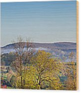 Rolling Hills Wood Print by Bill Wakeley