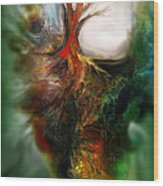 Roots Wood Print by Carol Cavalaris