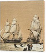 Ross Arctic Search Expedition, 1848-9 Wood Print by Science Photo Library