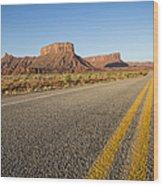 Route 128 Near Castle Valley Wood Print by Adam Romanowicz