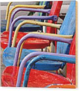 Route 66 Chairs Wood Print by Art Block Collections