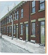 Rue Grand Trunk Pointe St. Charles Wood Print by Reb Frost