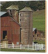 Rural Barn Wood Print by Bill Gallagher