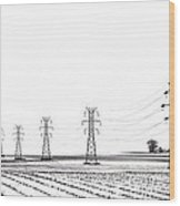 Rural Power Wood Print by Steve Gadomski