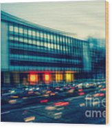 Rush Hour - Vintage Wood Print by Hannes Cmarits