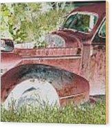 Rusted Truck 4 Wood Print by Dietrich ralph  Katz