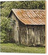 Rustic Wood Print by Heather Applegate