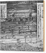 Rustic Old Colorado Barn Door And Window Bw Wood Print by James BO  Insogna