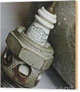 Rusty Old Spark Plug  5  Wood Print by Wilma  Birdwell