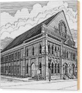 Ryman Auditorium In Nashville Tn Wood Print by Janet King