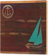 Sail Sail Sail Away - J173131140v3c4b Wood Print by Variance Collections