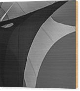 Sailcloth Abstract Number Eight Wood Print by Bob Orsillo
