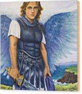 Saint Michael The Archangel Wood Print by Patty Kay Hall