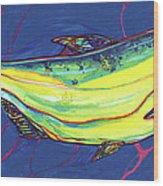 Salmon Of Knowledge Wood Print by Derrick Higgins