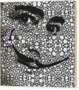 Salvador Dali - Surreal - Stone Rock'd Art By Sharon Cummings Wood Print by Sharon Cummings