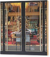 San Francisco Gumps Store Doors - 5d20585 Wood Print by Wingsdomain Art and Photography
