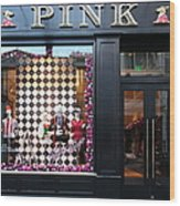 San Francisco Pink Storefront - 5d20565 Wood Print by Wingsdomain Art and Photography