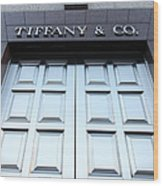 San Francisco Tiffany And Company Store Doors - 5d20562 Wood Print by Wingsdomain Art and Photography