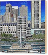 San Francisco Union Square 5d17938 Artwork Wood Print by Wingsdomain Art and Photography