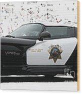 San Luis Obispo County Sheriff Viper Patrol Car Wood Print by Tap On Photo
